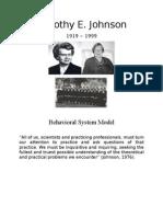Dorothy Johnson Behavioral System Model