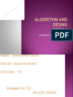 Algorithm and Desing