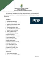 Resultado Oficial Selecao MESTRADO e DOUTORADO 2011