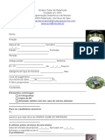 Ginásio Clube de Mafamude - Ficha de Inscrição