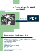 Britain's Preparations for WW1 and WW2