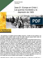 Europa en Crisis- Guerras Mundiales y Crisis Del 29