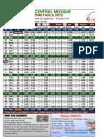 ''Updated'' Ramadan Time Table 2012 Birmingham Uk