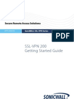 SonicWALL SSLVPN 200 Getting Started Guide