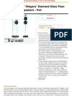 Waterfall Audio Niagara Diamond Glass Floor Standing Loudspeakers - Pair