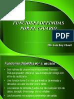 Funciones Definidas Por El Usuario - SQL