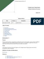 CSPS Software Architecture Document 1