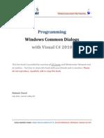 Windows Common Dialogs CSharp
