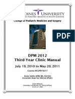 DPM 2012 Third-Year Manual