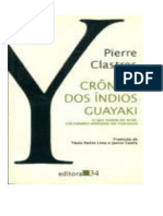 Clastres Pierre Crc3b4nica Dos c3adndios Guayaki
