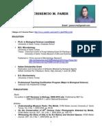 Latest Curriculum Vitae of Crisencio Paner-As of June 3, 2012