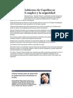 El plan de Gobierno de Capriles se basará en el empleo y la seguridad