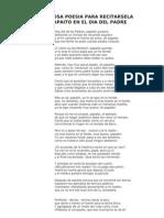 Poesia Dia Del Padre de Aquiles Nazoa