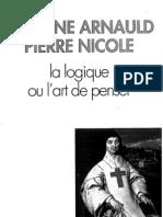 Arnauld Antoine & Nicole Pierre, La Logique Ou Art de Penser