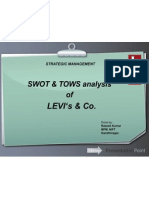 LEVI's SWOT and TOWS analysis