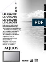 User Manual Sharp 26-32ad5e-s Om Gb