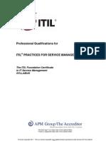 ITIL Foundation Certificate Syllabus v5.3