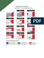 Calendario Escolar del curso 2012 - 2013