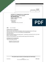 Sample Paper R&W KET