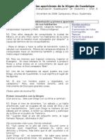 Dramatización de las apariciones de la Virgen de Guadalupe a Juan Diego