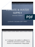 Climate & Water Supply