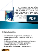 ADMINISTRACIÓN PREOPERATORIA DE FÁRMACOS Y AYUNO