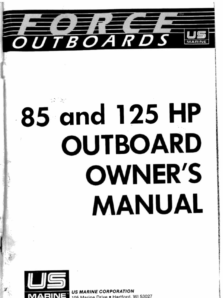 Force 85 125 Hp Outboard Owners Manual Double Throw Safety Switch Wiring Diagram