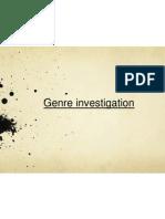 Genre Investigation