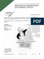 OS PARADIGMAS DA ADMINISTRAÇAO PÚBLICA NO BRASIL (1900-92)