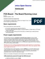 FOX-Board - The Board Running Linux