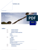 TDP Plan Tarifario de Telefonía Pública