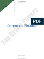 Corporate Finance - Academic Assignment - Www.topgradepapers