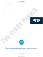 Supply Chain and Planning and Control Systems in Practice - Academic Essay Assignment - Www.topgradepapers