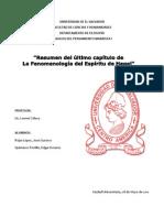 RESUMEN DEL CAPITULO FINAL DE LA FENOMENOLOGIA DEL ESPIRITU DE HEGEL. POR MARX