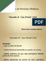 Discussão perícia médica área cível