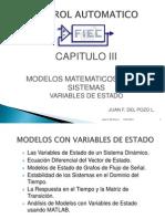Modelos Matematicos de los Sistemas de  Variables de Estado