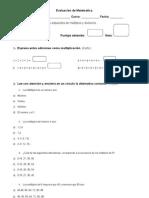 Evaluación multiplos y divisores