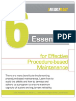 6 Essentials for Effective Procedur-based Maintenance