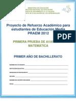 Pru_Avance de Matemática