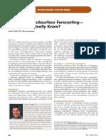 Probabilistic Subsurface Forecasting—