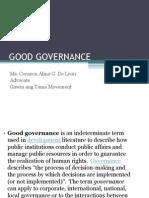 Good Governance Pave Iave