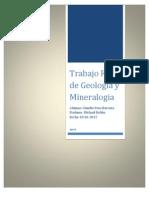 Trabajo Final de Geología y Mineralogia