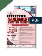 seminario saneamiento registral y catastral