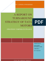 A Report on Turnaround Strategy of Tata Motors
