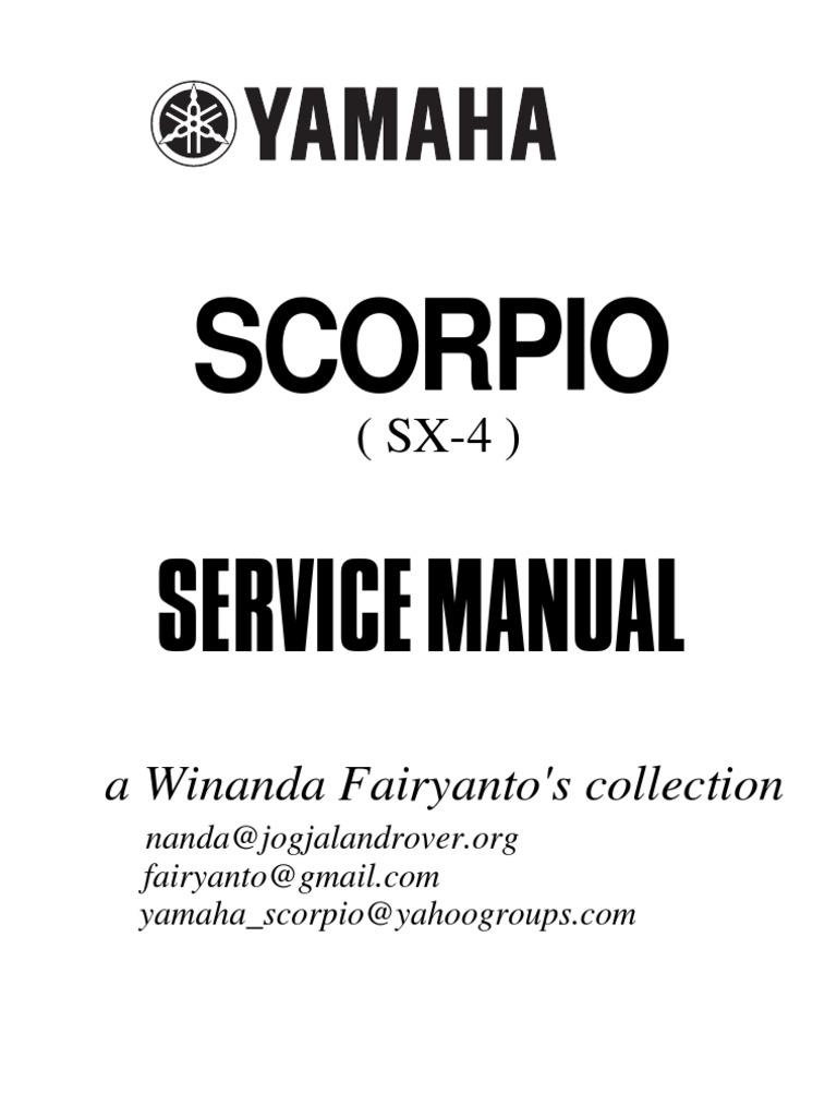 Service Manual Yamaha Scorpio 225 Rangkaian On Off Relay