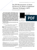 Sensitive Online PD-Measurements of Onsite OilPaper-Insulated Devices by Means of Optimized Acoustic Emission Techniques (AET)