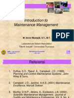 L.01 Introduction to Maintenance Management