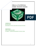 GLOBAL & NATIONAL  Economic Institutions