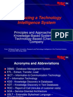 Technology Intelligence Systems