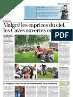 Article Tribune de Genève Succès pour les Caves Ouvertes